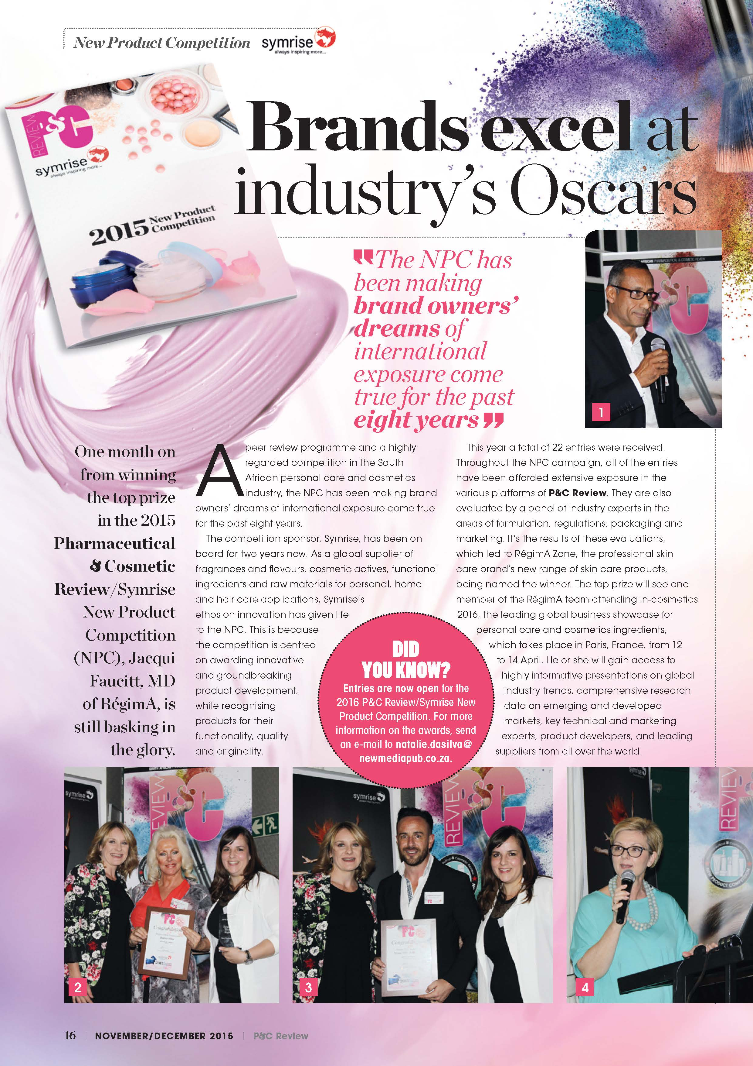 PHARMACEUTICAL AND COSMETIC REVIEW - AWARDS ARTICLE_Page_1